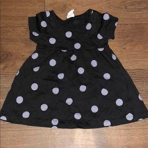 Charcoal/grey polka dot dress